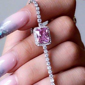 Cadena cuadrada de cristal Gargantilla atractivo de la clavícula del collar de las mujeres del Rhinestone corto collar de cadena de joyería colgante de regalo