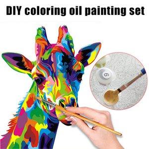 Краска по номерам для взрослых DIY Paint by Number наборы для детей начинающих на холсте JAN88