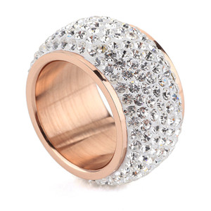 New Fashion Design Wholesale shining full rhinestone finger rings for woman luxurious paragraph fashion new antique gold-color