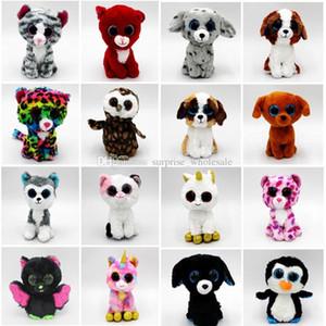 TY Bere Boos Peluş Doldurulmuş Oyuncaklar 15 CM Büyük Göz Hayvanlar Tavşan Penguen Yumuşak Oyuncaklar Renkli Çocuk Küçük Hayvanlar Bebekler Peluş Hediyeler
