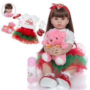 Wholesale Silicone Vinyl Reborn Babies Doll 60 cm Lifelike Princess Reborn Bonecas 2019 Children's Day Christmas Gifts