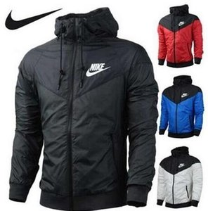 O envio gratuito de queda Windrunner fina Homens Mulheres sportswear tecido impermeável Men esportes jaqueta Moda zipper Hoodie plus size S-3XL