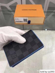 Portafoglio Business borsa degli uomini raccoglitori del progettista di lusso borse delle donne Borse Orange Box 1121