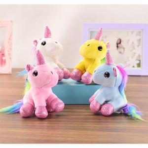 Presentes Atacado aniversário do cavalo do arco-íris bonito bichos de pelúcia boneca de pelúcia Brinquedos pendente para brinquedos das crianças das crianças
