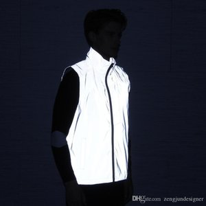 3M Reflective Mens Sports Desinger Vest Spring 2020 Sleeveless Fashion Style Autumn Clothing Running Casual Jackets