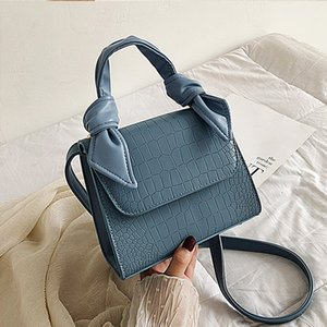 Pattern Leather Crossbody Bags For Women 2020 Fashion Small Solid Colors Shoulder Bag Female Handbags And Purses With Handle New Y200520