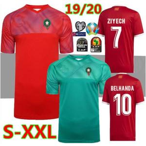 التايلاندية 2020 المغرب الأوروبي لكرة القدم بالقميص 19 20 مايوه قميص دي القدم ZIYECH BOUTAIB Camiseta دي فوتبول بوصوفة EL AHMADI كرة القدم