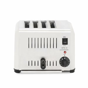 220v-230v 4-Scheiben geschnitten elektrische Toaster, Haushalt automatische Edelstahl-Toaster Frühstück Maschine, 4-Scheibe Bakeware Set Elektro-Küche