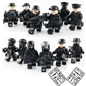 12st Lot Military Special Force Tactics Sturm Polizei COD SWAT Figur mit Waffen Building Blocks Aufbau-Spielzeug für Kinder