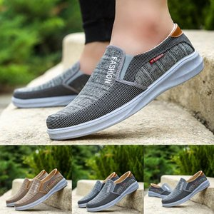 avec boîte YOUYEDIAN chaussures hommes mode Outdoor toile Casual Slip-On Chaussures Chaussures Lazy Respirant Chaussures tenis masculino adulto para