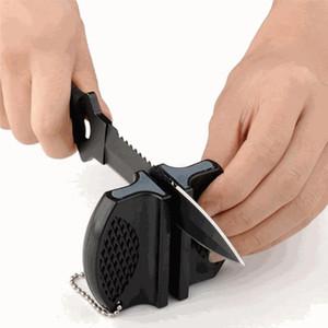 Mini Coltello da cucina affilare Stones a due stadi Pocket Camping Sharpening Stone macchina per affilare i coltelli da cucina strumento di livello professionale