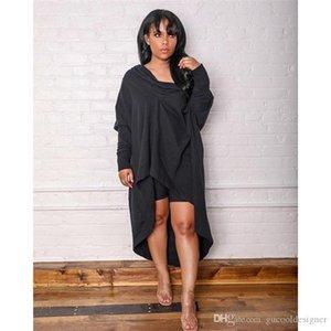 Mode Pure Color Femme Robes Designer Printemps Automne Slash Neck Ladies Casual Dress Loose Women Apparel froncée