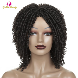 Hair Synthetic Wigs(For Black) Short Crochet Braids Wigs For Black Women Synthetic DreadLock Hair Wig Ombre Twist Afro Wig African Golden...
