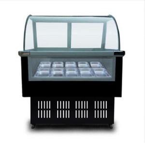 215W 220V glace commerciales en acier inoxydable crème Vitrine crème glacée desinsectiseur 8 fûts ronds ou carrés 12 barils congélateur