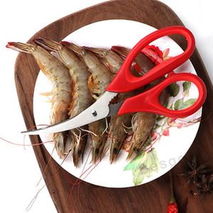 Cascas de camarão caranguejo mariscos Ferramenta Lobster Cracker Crab Cracker Lobster Crab Seafood tesoura de aço inoxidável tesoura de cozinha Gadgets DBC BH2869