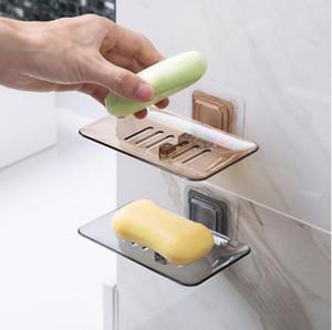 Saboneteiras Escorra Sponge Titular Banho Organizador Wall Mounted armazenamento Rack Soap Box Cozinha Hanging Shelf