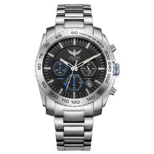 men tritium watch,Yelang mens Eco-Drive mens military wrist watches T100 luminous waterproof chronograph wristwatch reloj hombre T200409
