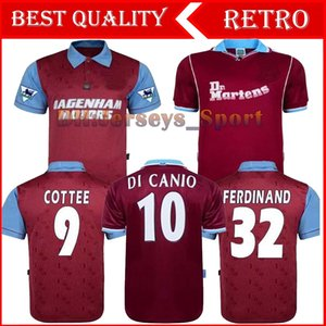 95 97 occidentale Centenario Retro anni Cole DI CANIO Lampard Falli 1999 00 Maglia camiseta 100 ° Retro 99 00 Casa Ham Retro soccer jersey