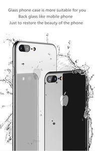 Espelho de vidro temperado celular case para iphone x xs xr xsmax 10 8 7 iphone 6 s 6 s plus 6 plus 6 s plus 7 plus 8 plus luxo tampa à prova de choque