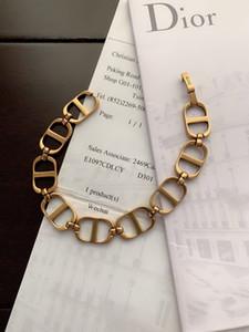 La nuova marca di rame retrò, lettere braccialetti delle donne degli uomini di lusso del progettista Bracciale Chain Link Accessori gioielli con scatola D09