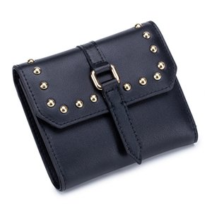 Charm2019 Ma'am Ding Liu Wallet Short Fund Genuine Leather Thin Section Penny Package Cowhide Solid Color Fold Personality Concise