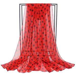Speelk Brand New Polka Dot Georgette Silk Scarf Women Fashion Dots Scarves And Wraps Female Long Outdoor Shawls Wholesale