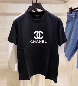 여름 디자이너 반소매 고급 여성은 날씬한 여성에게 여성의 셔츠 면화 품질 크기 반소매 티셔츠를 인쇄