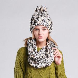 Moda Knit Scarf Hat Define Beanie Cap Mulher Knit Natal bonito Quente menina Crochet Lenços exterior Ski Hat TTA1936-7