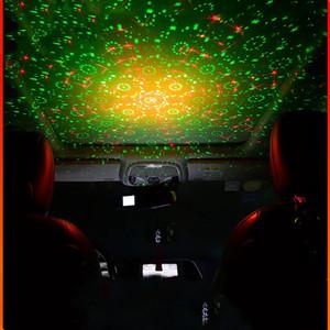 Usb voiture laser étoile lumière lumière voiture décoration lampe étoilée ciel module intérieure voitures de toit lumière projection de son contrôle sonore lumineux