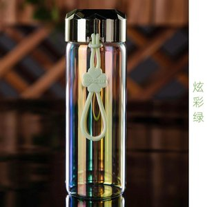 380ml Nano mirror glass Can put microwave-proof glass Student child milk cup Coffee Tea Milk Travel Mug Thermo Bottle Gifts