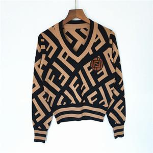 2020 nuove donne maglione maglioni pulloverLetter doppia F maglioni di cashmere donna Autunno Inverno cardigan qualità di lavoro a maglia camicette designe