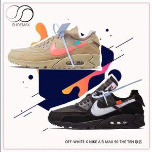 Top Quality Max 90 Nike Air V2 APE Designers Off Virgil Abloh White Desert Ore Black Fashion Luxury Basket The Ten Kanye West Triple Men Women Sports Running Shoes Canvas Shoes