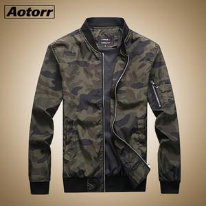 Aotorr 2019 novo outono dos homens jaquetas camuflagem casacos masculinos camo jaqueta bomber clothing marca mens outwear plus size m-7xl