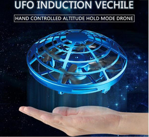 3 Styles 2020 UFO Gesture Induction Suspension Aircraft Smart Flying Saucer With LED Lights Creative Toy Entertainment 9cm