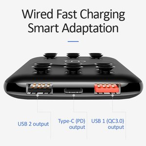 10000mAh Power Bank Qi Wireless charger 18W QC3. 0 PD Fast Charging Power bank With Suction Cup for iPhone Samsung