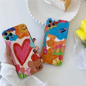 2020 Hot Sale Cartoon Cute Oil Painting Phone Case For iPone 11Pro 11ProMax 11 X XS XR XRMAX 7&8 7p&8Plus