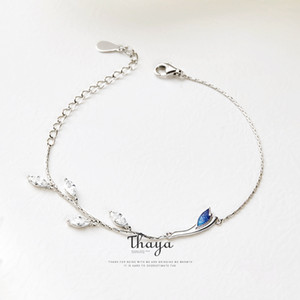 Thaya Chinese Style Beads Bracelets 925 Sterling Silver Blue Crane Bracelets for Girls Elegant Special Jewelry CX200702