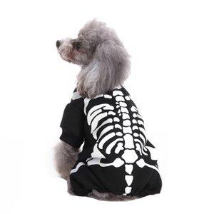 Cute Funny Pet Skeleton Costume Kleidung Polyester beiläufige Hoodies Haustier Hund Katze Halloween verkleiden Zubehör Productos Para Perr