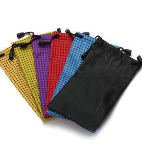 18 * poche lunettes de soleil sacs 9cm Sac souple Lunettes de lunettes de soleil de téléphone cordonnet sac de rangement Cases KKA7961