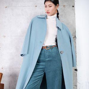 Winter Clothes Woman 2019 Australia Wool Coat Loose Two-sided Australia Wool Coat Woman Woolen Loose Coat