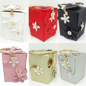 FGG totes pu boîte Diamond Flower partie banquet de dîner robe de soirée Sac de soirée à la main à la main à la main