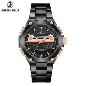 Reloj Hombre luxe Dorées heure dorée Montre erkek Kol Saati Semaine automatique Affichage mode analogique Homme Horloge Relogio Masculino