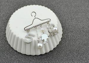 Горячие новые полки аксессуары для одежды вешалки № 5 брошь кристалл брошь жемчуг горный хрусталь роза грудь женская