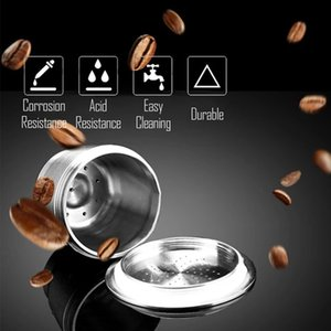 Reusable Kitchen For Tool Coffee Nespresso Filter Machines Environmentally Friendly Refillable Stainless Capsule Steel Capsule Hlnlt