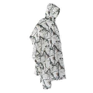 Открытый Дождевик Кемпинг Водонепроницаемый непроницаемый снег Camo дождь пончо куртка с капюшоном пончо Плащ Камуфляж Плащ Плащи