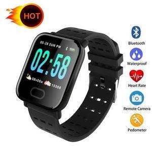 A6 Fitness Tracker Bracelet Couleur Écran Tactile Montre Smart Watch Smartwatch Résistant À L'eau Téléphone avec moniteur de fréquence cardiaque