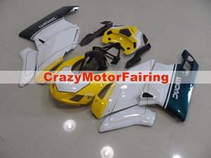 4Regalos Nuevos moldes de inyección de ABS Kits de carenados de motocicleta aptos para Ducati 749s 999s 2003-2004 03 04 Carenado Bodywork Set Custom blanco amarillo