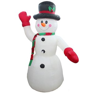 2.4M LED Air Inflatable Snowman with Blower Garden Outdoor Hotels Layout Christmas Decor Figure Kids Classic Toys EU Plug