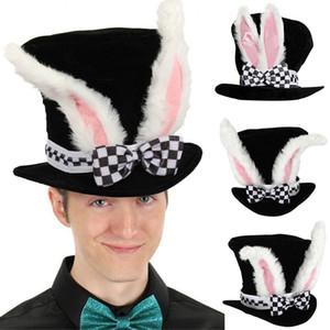 Bunny Ears regalo di Pasqua peluche prestazioni Topper sveglio del cappello di partito coniglio di velluto costume con scacchi divertente Cny2102