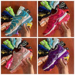 2019 New TN Plus Rainbow Womens Running Shoes Bumblebee 될 참 포도 숨 Air Cusion Desinger Sneakers Eur 36-45